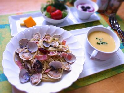 ロカボ! ハマグリとベーコンのボンゴレ(糖質0g麺でカサ増し) & 最近の夜ご飯