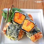 ふわふわ卵焼き明太子サンド天ぷら♪簡単変わり種天ぷら2品