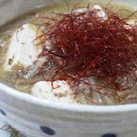 コクうま☆にんにく味噌バター味の肉豆腐♪醤油発祥の地~