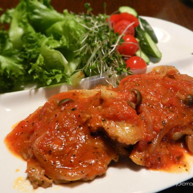 アメリカンポークでも柔らかく美味しい豚ロースのトマトソース煮