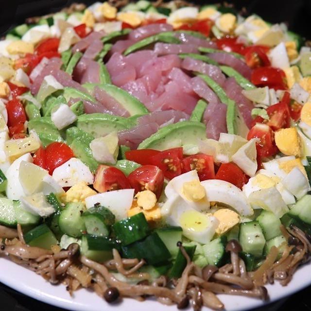 ★初夏が旬のビンチョウマグロで華やかお造りサラダ