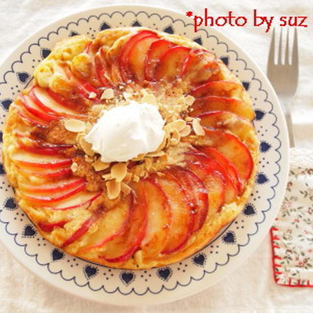 りんごの豆乳ホットケーキ。。。