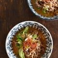 切り干し大根のピリ辛坦々スープ