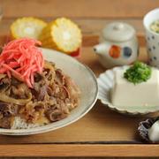 【丼ぶりレシピ】ガッツリ濃い味牛丼の日