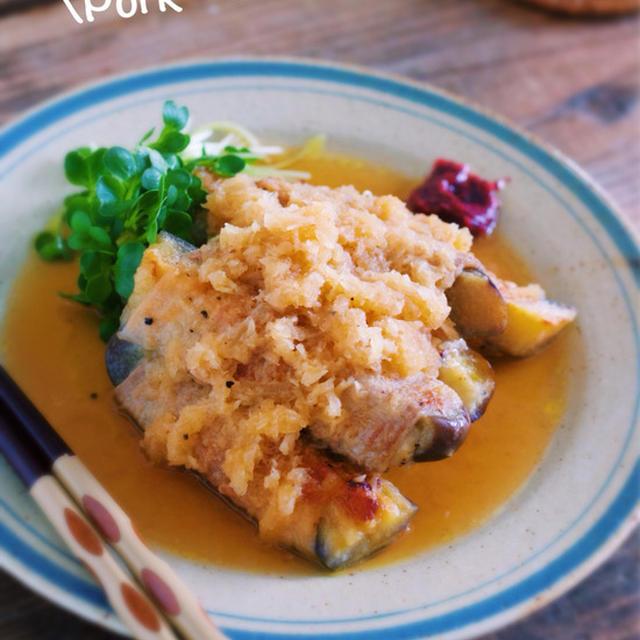 旨味がジュワ〜っ♡冷まして美味しい♡『なすの豚バラ巻き〜おろしポン酢煮〜』【レシピブログ連載】