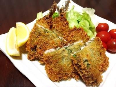 梅シソ鰯フライで夜ご飯♪
