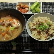 秋刀魚のかば焼きとシメジの炊き込みご飯
