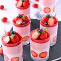 今が旬苺の春お菓子♪苺とヨーグルトのふわふわムース