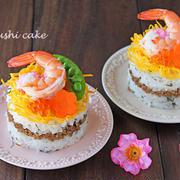 牛乳パックでひな祭りのそぼろ寿司ケーキ☆