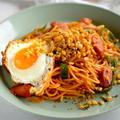 【ふりかけでアレンジ】ガリゴリトマトスパゲティー