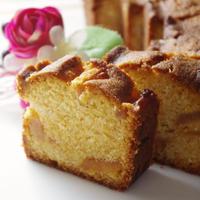 梨のキャラメリゼでアーモンドケーキ