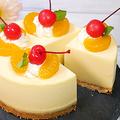 食べきりサイズ【オレンジのレアチーズケーキ】の作り方 by HiroMaruさん