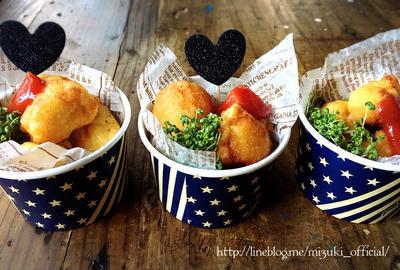 ♡天ぷら粉de超簡単♡ささみのチーズフリッター♡【#時短#節約#ヘルシー#天ぷら#鶏肉】