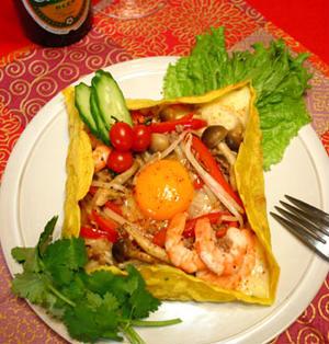 ガレット風☆半熟卵のベトナムバインセオ!