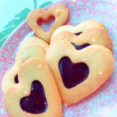 バレンタインに!ハート♡のガナッシュ入りクッキー