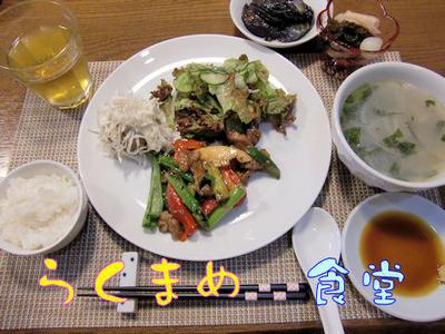 【チンジャオロース】&【レンジシューマイ】の定食♪パウンドケーキつき