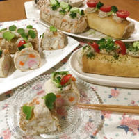 バッグdeいなり寿司♡と、いなり寿司deロールケーキ