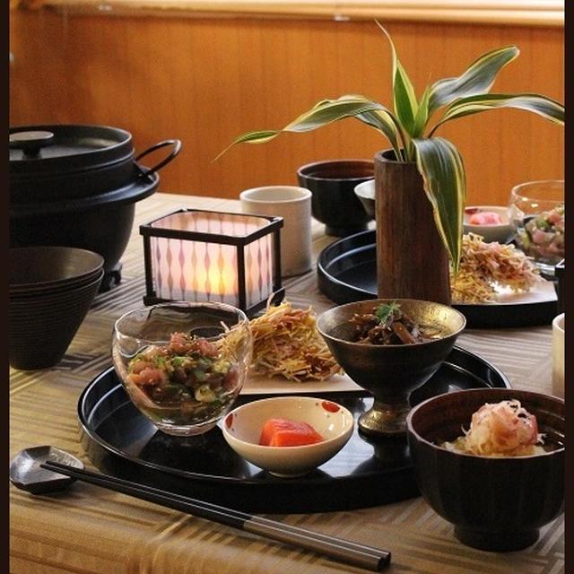 めかじきのカレー天ぷら!と、ご飯のお供いろいろ♪