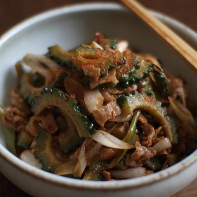 ゴーヤと豚バラの味噌炒め。