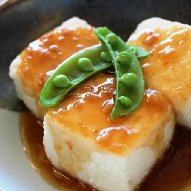 HAPPY NEW YEAR!!おすすめレシピ。揚げ出し豆腐梅肉あんかけ