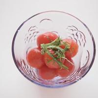 冷凍ミニトマトでミニトマトのめんつゆ漬け