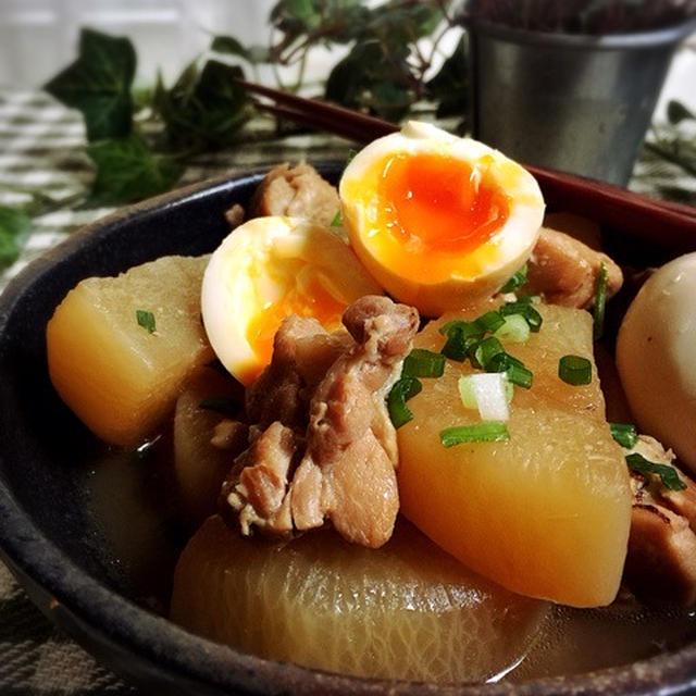 前日仕込んで味しみしみ☆鶏大根と卵の甘酢煮☆