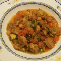 ソーセージと豆のスープ