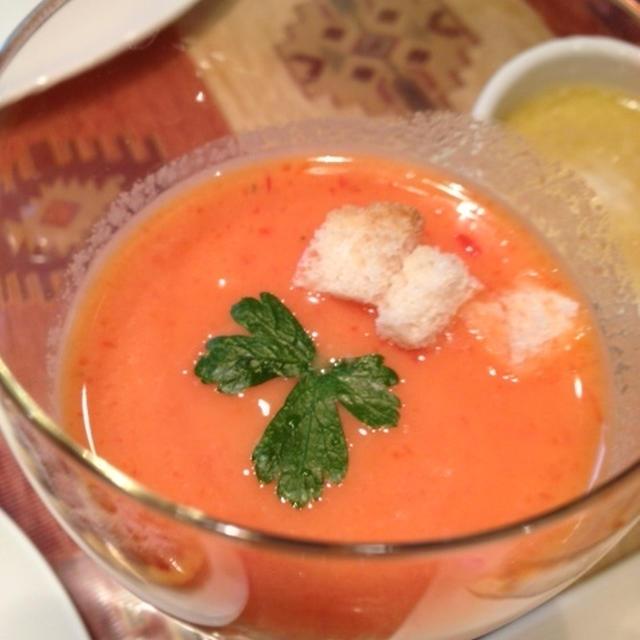 冷製トマトとパプリカのポタージュスープ♥