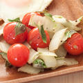 プチトマトと山東菜のバジル炒め