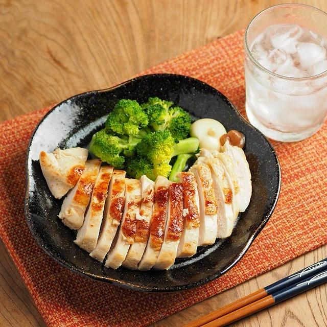 レシピブログ連載、鶏むね肉の梅肉焼き、梅肉で鶏むね肉は柔らかくなるか?