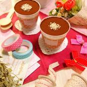 3層仕立てのフワフワチョコムース