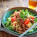 ♡レンジde簡単♡肉味噌和え麺♡【#簡単レシピ#時短#うどん#素麺#中華麺】
