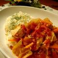 ほったらかしが美味しい♪圧力鍋でトマトシチュー(バターライス添え)