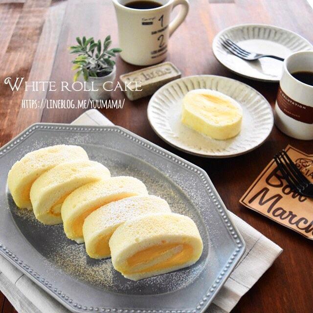 ふんわり白い♪フロマージュロールケーキ【cotta】〜お葉書ありがとうございます^ ^〜