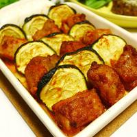 ハウス食品 スパイスクッキング タンドリーチキンで作る♪ スパイシー鶏肉とズッキーニの重ねオーブン焼き オーブン焼き・おつまみ料理 -Recipe No.1390-