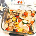 レモンでサッパリ!鶏と夏野菜のグリル