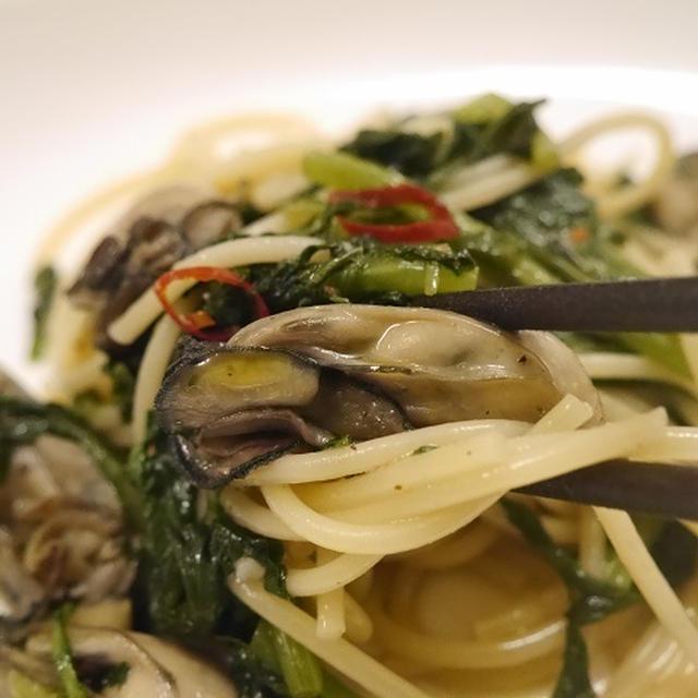 ★ 牡蠣ペペロンチーノ