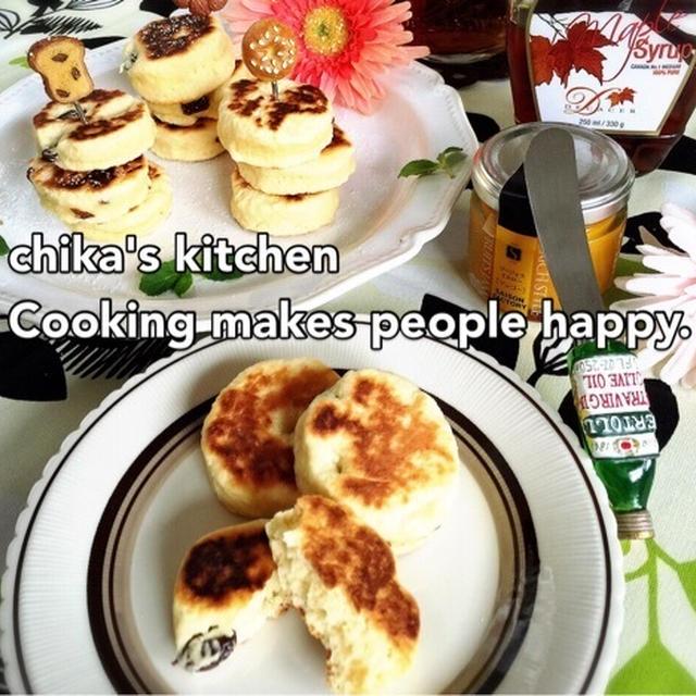 ホワイトデー。 と 混ぜたらフライパンで焼くだけ♪イギリスの伝統おやつウェルシュケーキ♡