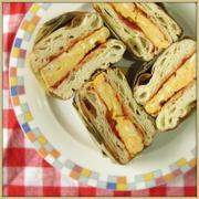 オムレツのクリスケットサンドイッチ