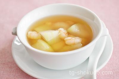 えびと冬瓜のスープ【中性脂肪を下げるレシピ】