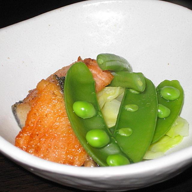 甘塩鮭のサラダ風