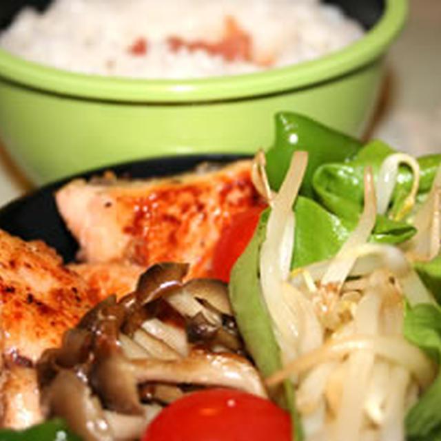 ピリッと鮭の味噌焼き弁当