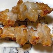 鶏かわのレモン塩焼き鳥