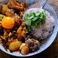 【レシピ】ハリッサ味噌漬け鶏と葉ニンニクのキムチ炒めプレート