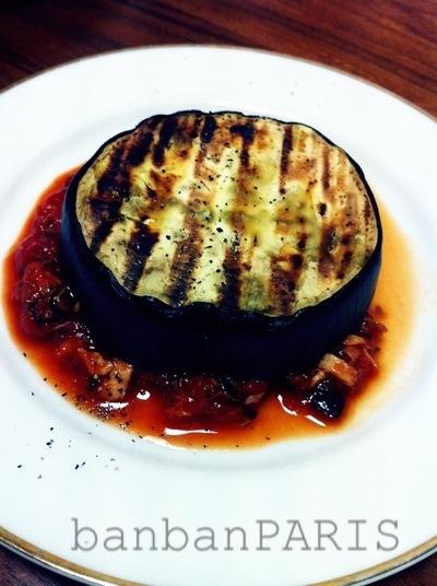 米なすのステーキ トマトソース