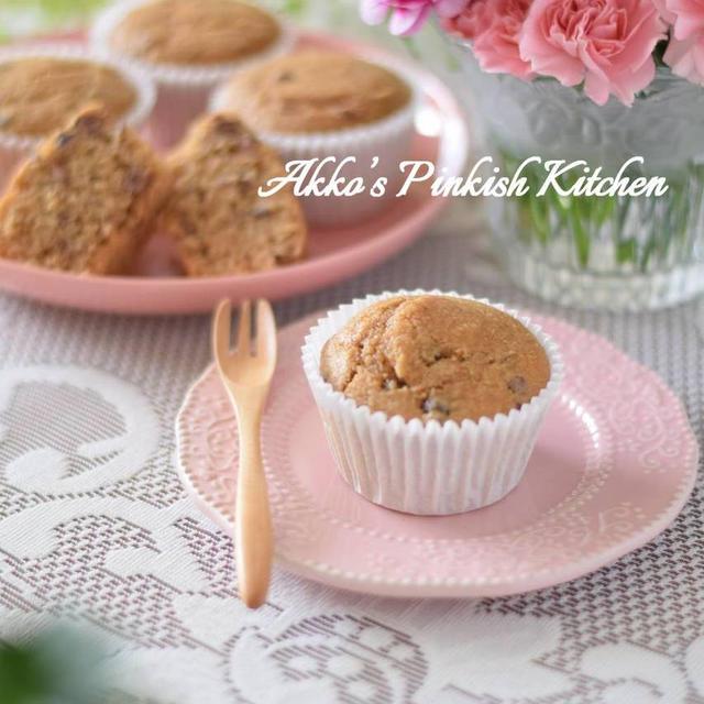 【薬膳料理】あずきとおからの黒糖カップケーキ