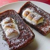 マシュマロのミント風味のチョコフレンチトースト♪