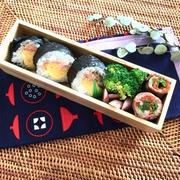 あるもので巻き寿司のお弁当**