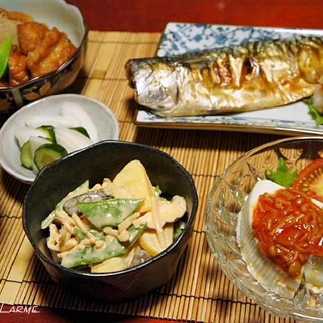 味噌汁拒否!の暑い夜は焼き鯖定食〜