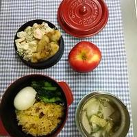 アレンジおうち中華弁当・白い味玉子:カンタン酢浸け